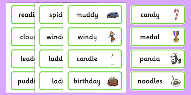Medial 'd' Word Cards - speech sounds, phonology, articulation, speech therapy, dyspraxia
