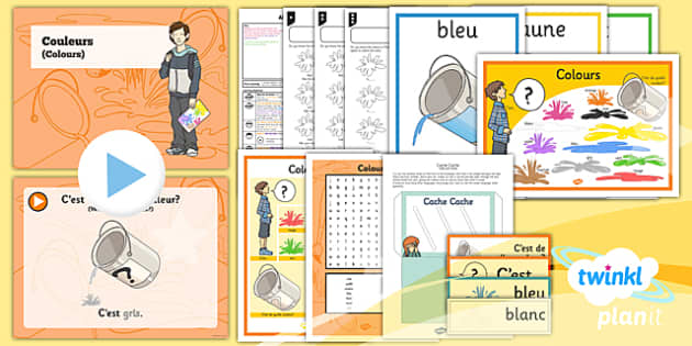 PlanIt - French Year 3 - All About Me Lesson 4: Colours Lesson Pack - french, languages, colours