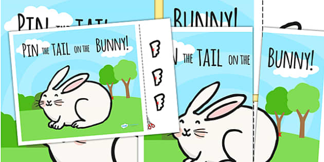Pin The Tail On The Bunny - bunny, rabbit, easter, religion, RE