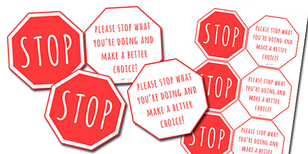 Stop Sign Warning Cards - stop sign, warning, warning cards, road safety, word cards, word flash cards, flash cards, words, key words, key word cards, card