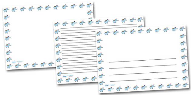Elephant Portrait Page Borders- Portrait Page Borders - Page border, border, writing template, writing aid, writing frame, a4 border, template, templates, landscape