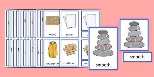 Materials Three Part Cards