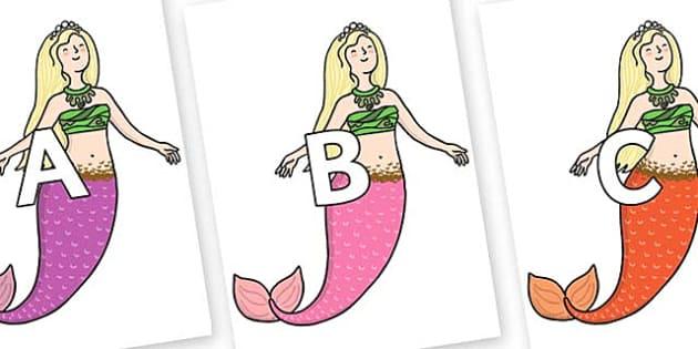 A-Z Alphabet on Second Sister - A-Z, A4, display, Alphabet frieze, Display letters, Letter posters, A-Z letters, Alphabet flashcards