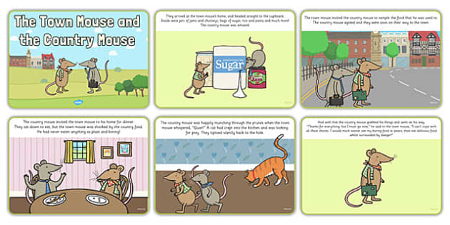 The Town Mouse And The Country Mouse - town, mouse, country, sugar, Town Mouse, Country Mouse, animals, story, story book, book, Jan Brett, country-mouse, twon-mouse, author, resources