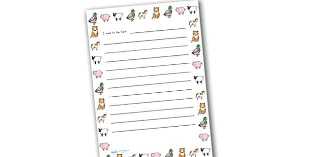 On The Farm Handwriting Lines - farm, handwriting, write, lines