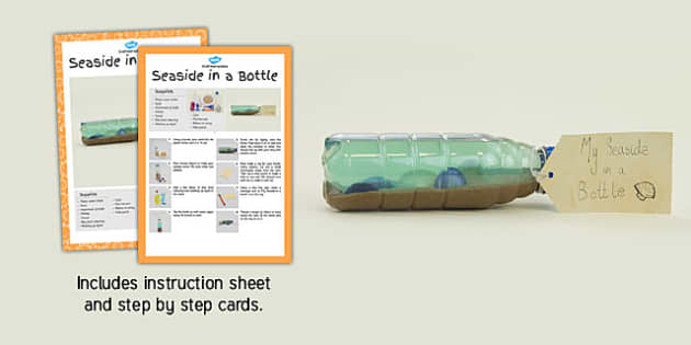 Seaside in a Bottle Craft Instructions - craft, instructions