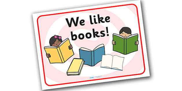 'We Like Books' Display Sign - Reading/Book area display words, creading area, book area, book corner, display, poster, books, reading, author, fiction, non-fiction, stories