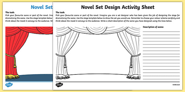 Novel Set Design Activity Sheet-Irish, worksheet