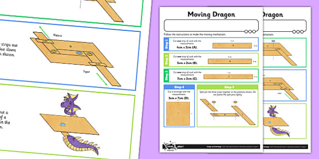 Making Levers and Linkages: Moving Dragon Activity Sheet - Go Green, Eco, recycle, warrior, environment, worksheet