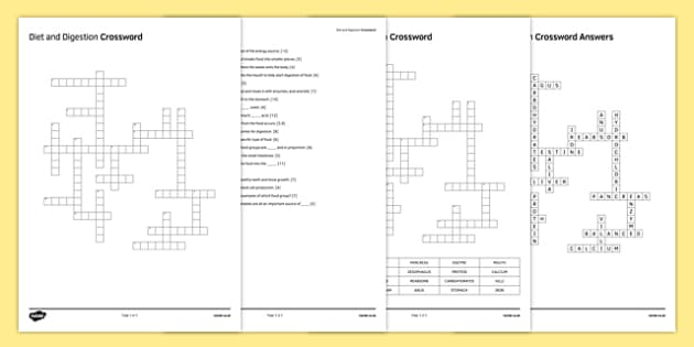 KS3 Diet and Digestion Crossword