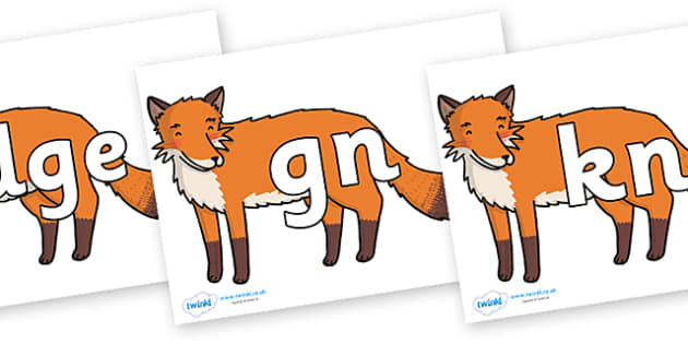 Silent Letters on Gingerbread Man Fox - Silent Letters, silent letter, letter blend, consonant, consonants, digraph, trigraph, A-Z letters, literacy, alphabet, letters, alternative sounds