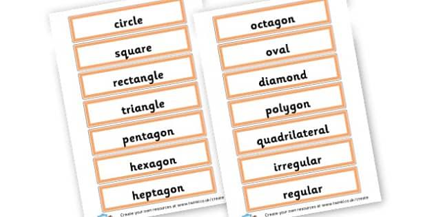 shape names