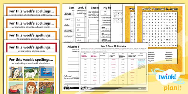 PlanIt Y5 Term 1B Bumper Spelling Pack