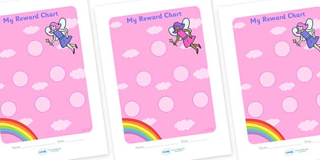 Fairy Sticker Reward Chart (30mm) - Fairy Reward Chart (30mm), Fairy, reward chart, chart, reward, 30mm, 30 mm, stickers, twinkl stickers, award, certificate, well done, behaviour management, behaviour, fairies, fantasy, wand, faerie, story