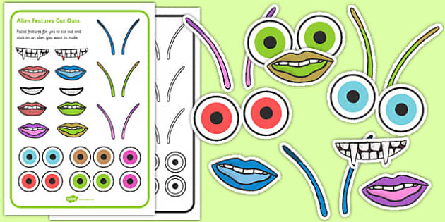 Design a 2D Shape Alien Activity - design, 2d, shape, alien