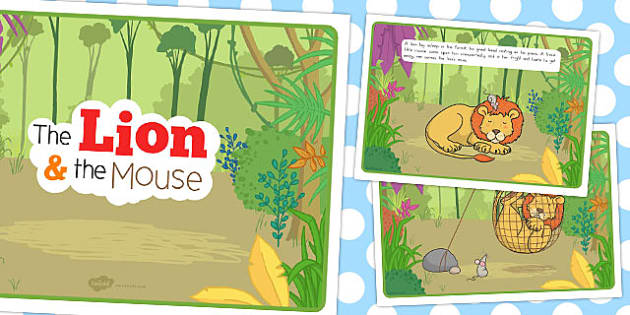 The Lion and the Mouse Story - australia, lion, mouse, story