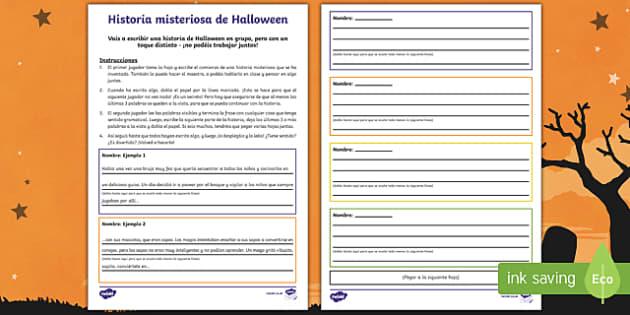 Actividad en grupo Historia misteriosa de Halloween