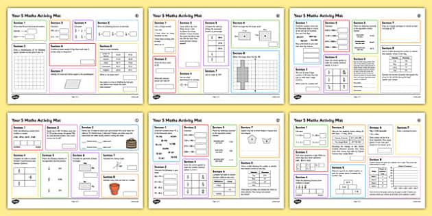 Year 5 Summer 2 Maths Activity Mats