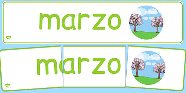 Marzo Display Banner Spanish - spanish, year, months of the year, march