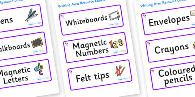 Lollipops Themed Editable Writing Area Resource Labels - Themed writing resource labels, literacy area labels, writing area resources, Label template, Resource Label, Name Labels, Editable Labels, Drawer Labels, KS1 Labels, Foundation Labels, Foundat