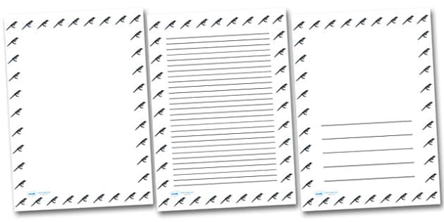 Magpie Portrait Page Borders- Portrait Page Borders - Page border, border, writing template, writing aid, writing frame, a4 border, template, templates, landscape