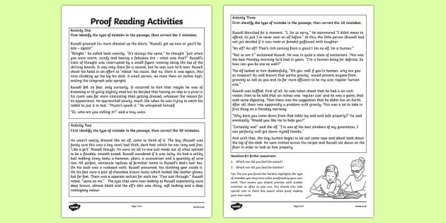 Proof Reading Activities - proof reading, activities, proof, reading