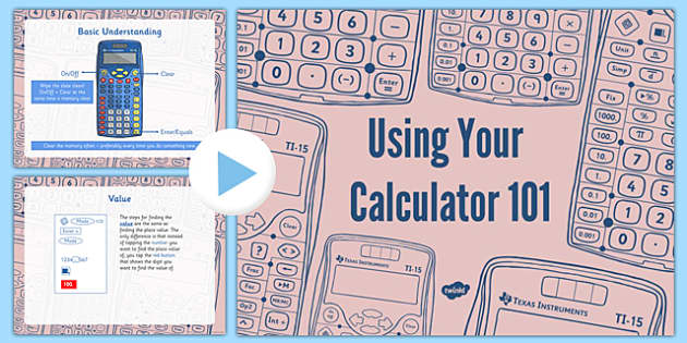 Using Your Calculator PowerPoint - usa, america, US Resources, Calculator, 3rd, 4th, 5th