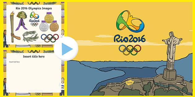 Olympics Editable PowerPoint Template - olympics, editable, powerpoint, template