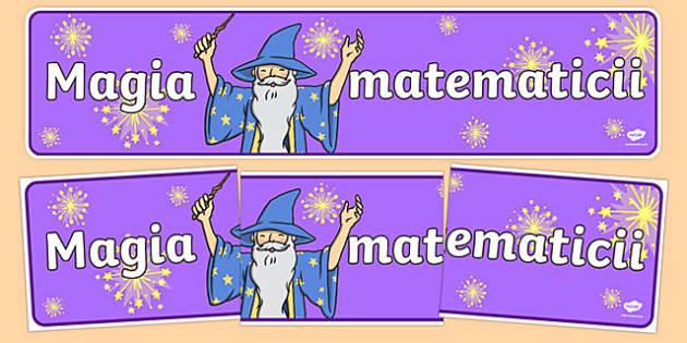 Magia matematicii - Banner
