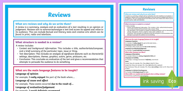 What is a Review? A4 Display Poster-Australia - Literacy, What is a Review?  A4 Display Poster , poster, display, display wall, english, literature,