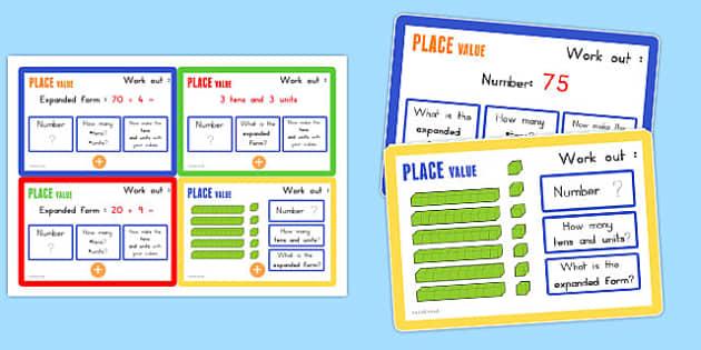 Place Value Maths Challenge Cards - australia, place value, maths