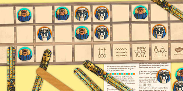 Ancient Egyptian Board Game Senet - egypt, ancient, game, board
