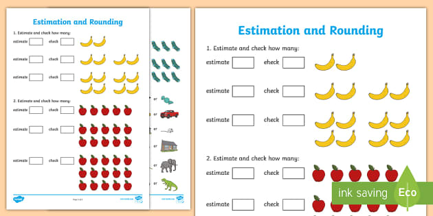 Early Level Assessment Estimation and Rounding Activity Sheet - CfE ...