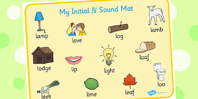 Initial l Sound Mat - initial l, l sound, sounds, sound mat, mat