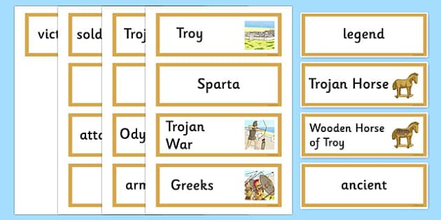 The Legend of the Trojan Horse Word Cards