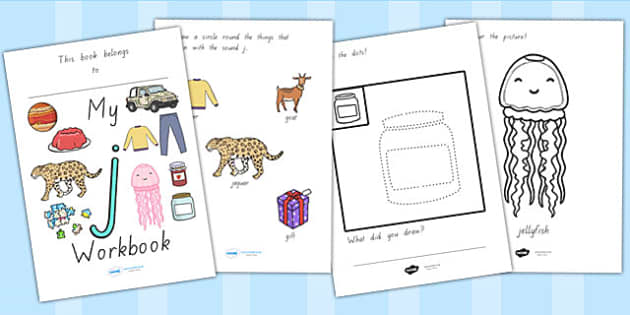 My Workbook J Lowercase - letter formation, writing, tracing