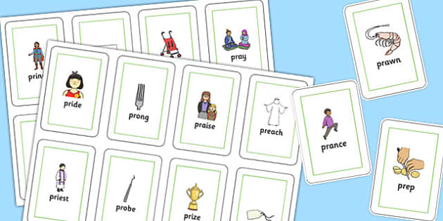 PR Sound Flash Cards - sen, sound, pr sound, pr, sen, flashcards, flash cards