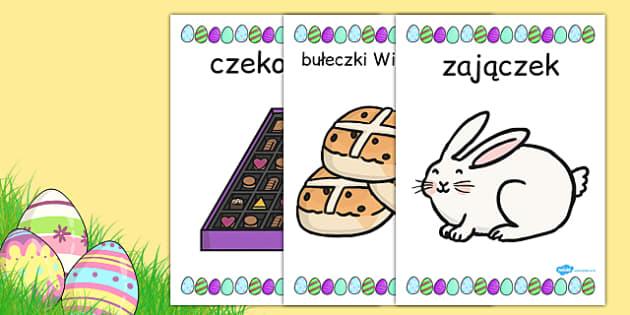 Materialy na gazetke scienna Wielkanoc po polsku - dzieci, szkola , Polish