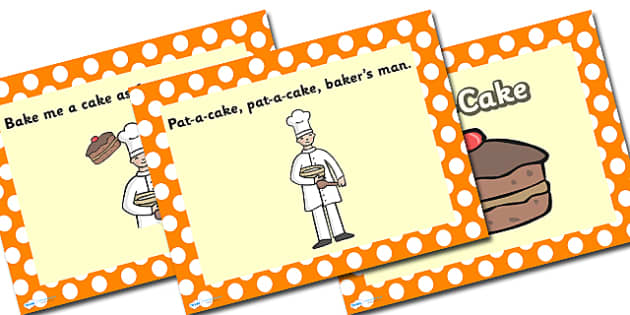 Pat-a-cake PowerPoint - pat a cake, pat a cake pat a cake bakers man, pat-a-cake, nursery rhymes, nursery rhyme powerpoint, pattycake, patty-cake