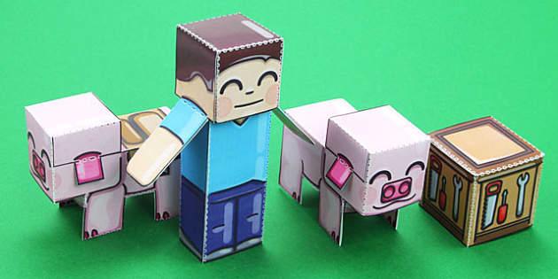 Block Paper Model Adventure Pack - block, adventure, pack, craft, model