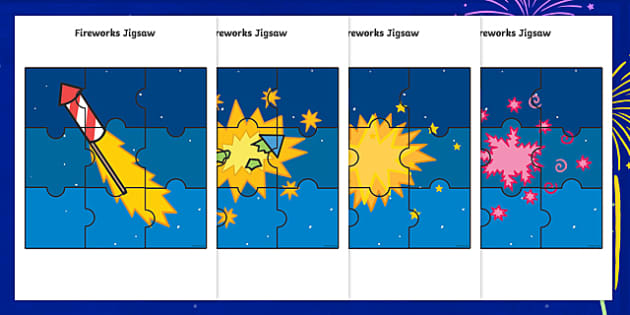 Fireworks Jigsaw Activity Pack