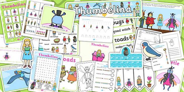 Thumbelina Resource Pack - stories, story books, thumbelina