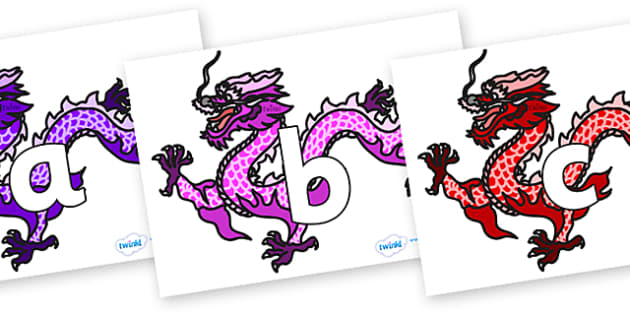 Phoneme Set on Chinese Dragons (Multicolour) - Phoneme set, phonemes, phoneme, Letters and Sounds, DfES, display, Phase 1, Phase 2, Phase 3, Phase 5, Foundation, Literacy