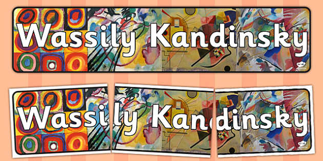 Wassily Kandinsky Display Banner - wassily, kandinsky, display