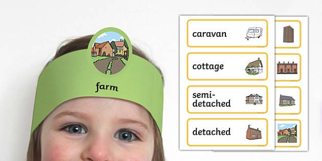 Houses and Homes: Guess the Home Headband Game