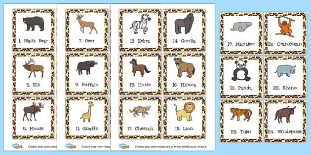 Animal Guess Who