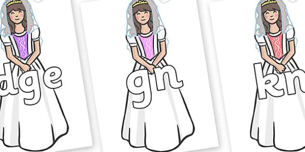 Silent Letters on Princesses - Silent Letters, silent letter, letter blend, consonant, consonants, digraph, trigraph, A-Z letters, literacy, alphabet, letters, alternative sounds