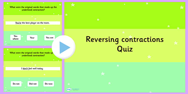 Reversing a Contraction SPaG Punctuation PowerPoint - SPaG, ppt