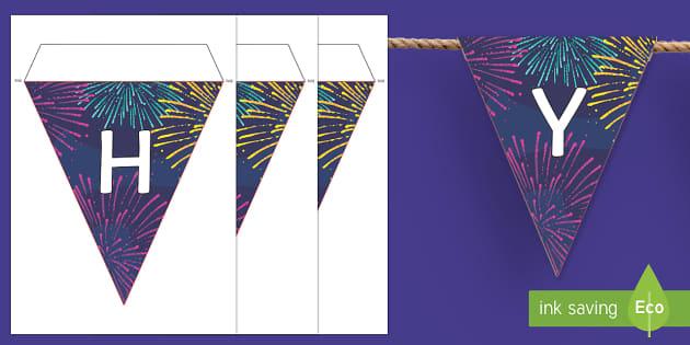 Happy New Year 2017 Display Bunting - Happy new year, new year, new year's eve, 2017, bunting, display