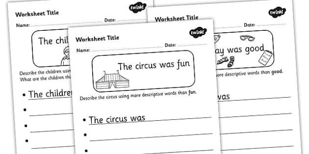 Alternative Words Worksheet Pack - alternative words, better